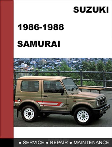 suzuki samurai 1986 1988 service repair manual pdf suzuki samurai 1986 1988 oem factory service repair workshop manu