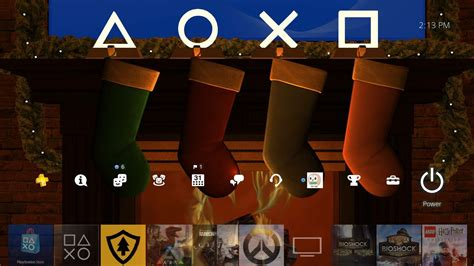 ps4 themes christmas sony gifts ps4 users with free dynamic holiday theme