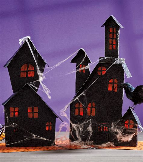 How To Make A Paper Haunted House - paper haunted house craft crafts jo