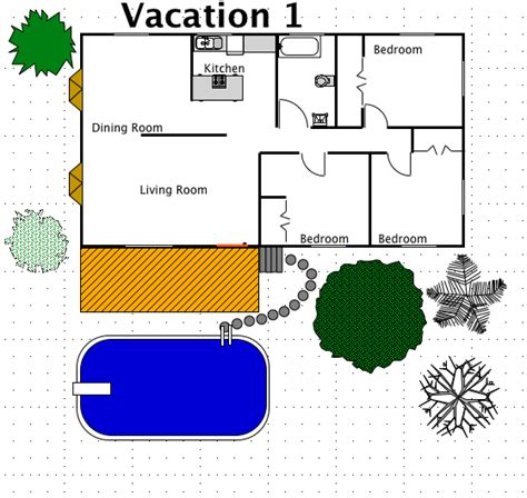 vacation floor plans vacation house style a free macdraft floor plan for the mac