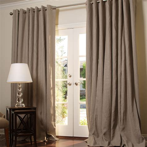 how to iron linen curtains hand made the outlet solid linen in taupe and roman