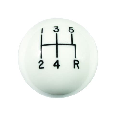 Hurst White Shift Knob by Hurst 1630025 Shifter Knob 5 Speed White 3 8 16 Thread Ebay