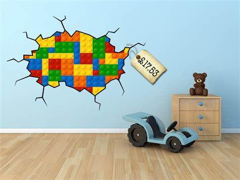 ideas for wall decor for large walls lego wall decal lego