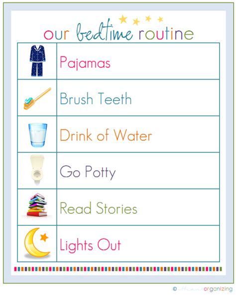 printable toddler routine incoming kindergartners bbes kindergarten