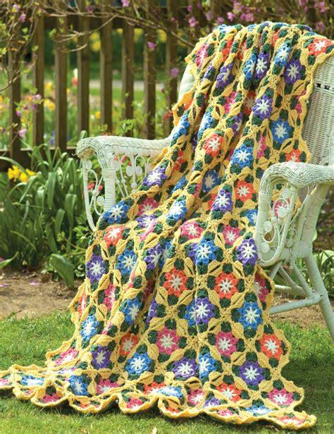 Soft Yarn Leaf 9522 free flower crochet blanket pattern archives crochet