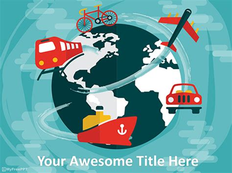 Free Travel Powerpoint Templates Themes Ppt Template Powerpoint Travel