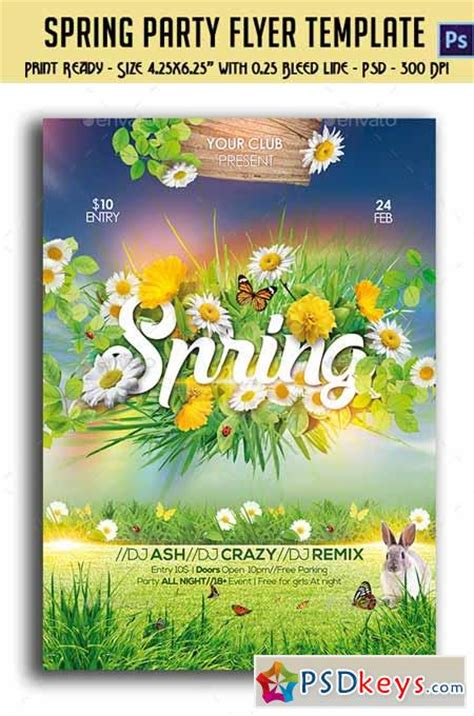 spring party flyer 10761333 187 free download photoshop