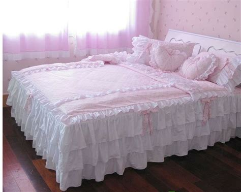 twin ruffle comforter pink ruffle bedding sewing pinterest