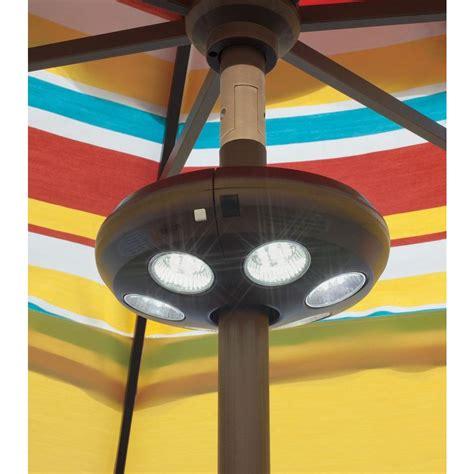 island umbrella 6 light rechargeable led umbrella light