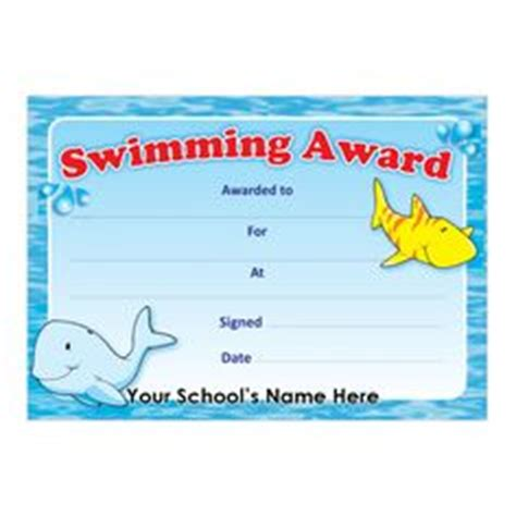 blank certificates swimming award certificate blank certificate swimming certificate template