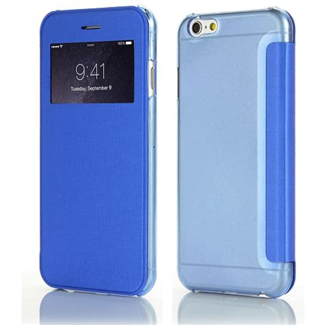 Flipcover Mini 1 2 3 79 Inchi Flip Book Cover T2909 2 Iphone 6 6s Flipcover Met Caller Id Blauw Iphone