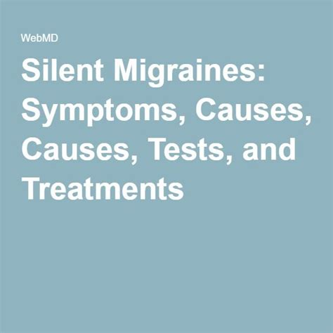 Migraines Allergies And Work by Silent Migraines Symptoms Causes Tests And Treatments