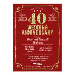40th wedding anniversary invitations 900 40th wedding anniversary announcements invites