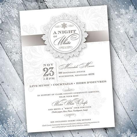 Design Invitation Formal   vintage winter theme formal invitation design designs by