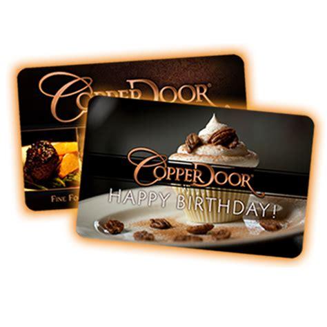 sitting at the table of success copper door restaurant - Copper Door Gift Card