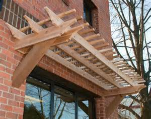 Wall Pergola by 17 Best Images About Pergola Cantilevered From Wall On