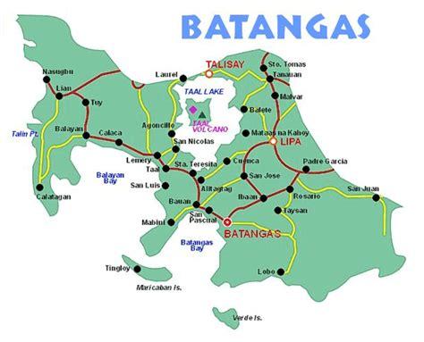 san jose tagaytay map map of batangas province philippines