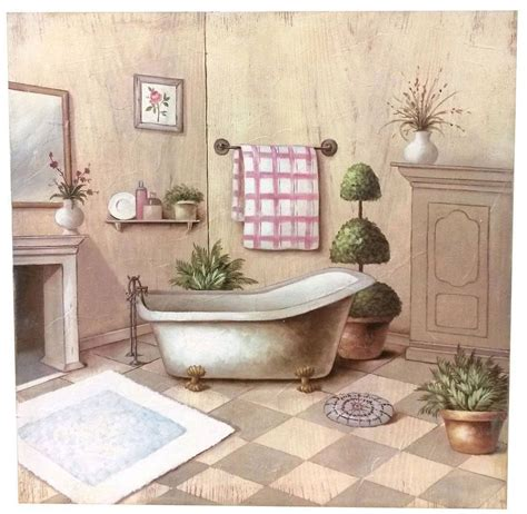 quadri per bagni quadro julie bagno shabby quadri