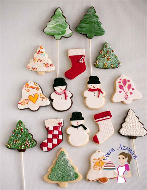christmas cookies best decoration cookie decorating with fondant tutorial veena azmanov
