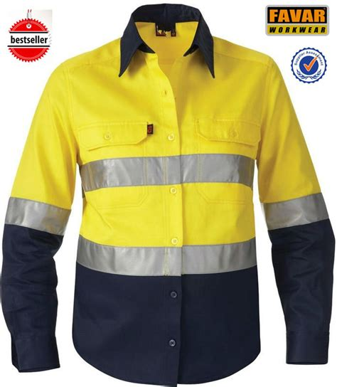 Buys Safer Shirt by Mens Two Tone 3m Reflective Shirt High Vis Safety Work