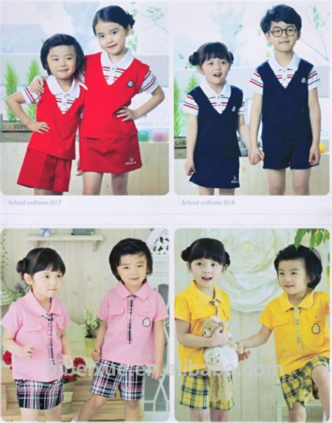 comfortable school uniforms bright and comfortable kindergarten school uniform series