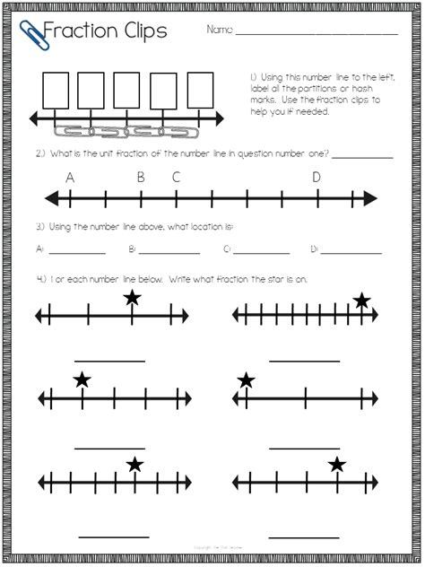 Fractions On A Number Line Worksheet by Lesson Plans For Teaching Fractions On A Number Line