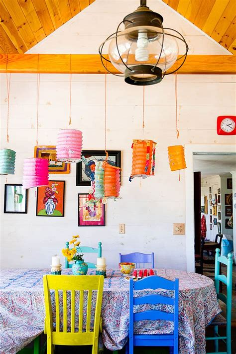 Colorful Dining Room by Dazzling Feast 21 Creatively Ways To Light Up The