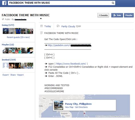 facebook themes pastebin experts warn users of facebook music theme scam
