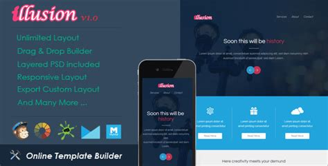 themeforest drag mobile tablet responsive template illusion responsive email drag drop builder by