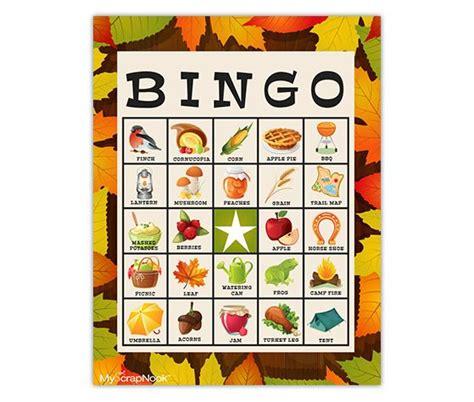 Free Fall Bingo Cards Printable