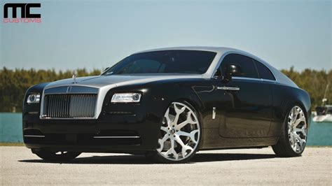roll royce wraith on rims mc customs rolls royce wraith 183 forgiato wheels youtube