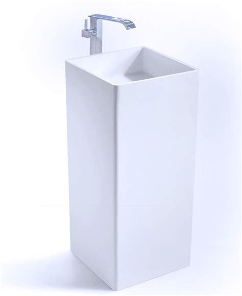 Modern Pedestal square modern pedestal sink