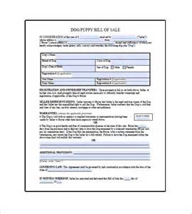 Puppy Template by Bill Of Sale Template 8 Free Word Excel Pdf