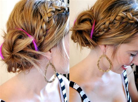 put your hair in a bun with braids how to make a messy bun hairstyling personal blog