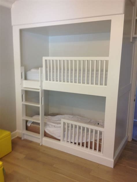 built in bunk beds hand crafted built in bunk beds by bk renovations inc