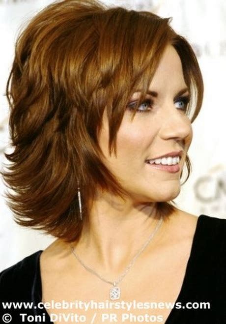 medium length haircuts for women over 40 round face medium length shaggy haircuts