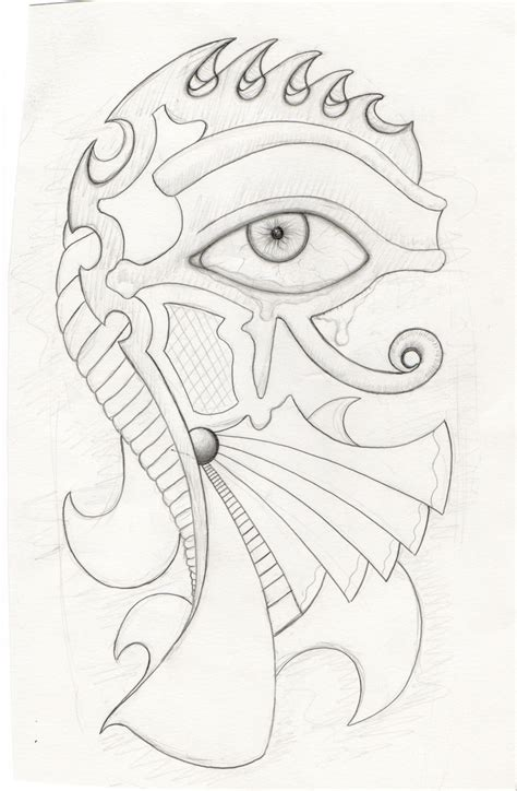 Pharaoh Outline by Eye Of Horus Sketch By Laagernaught Deviantart On Deviantart Eye