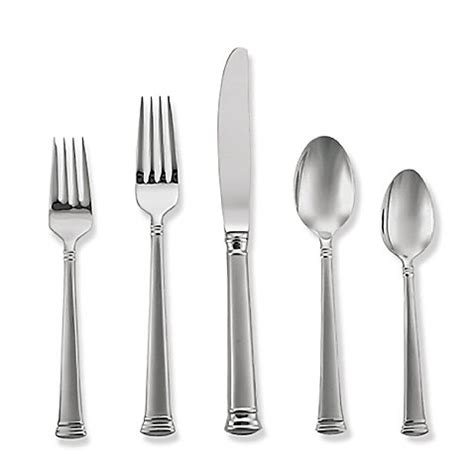 bed bath and beyond silverware lenox 174 eternal frosted flatware bed bath beyond