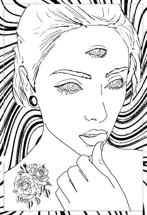 Free Psychedelic Coloring Pages