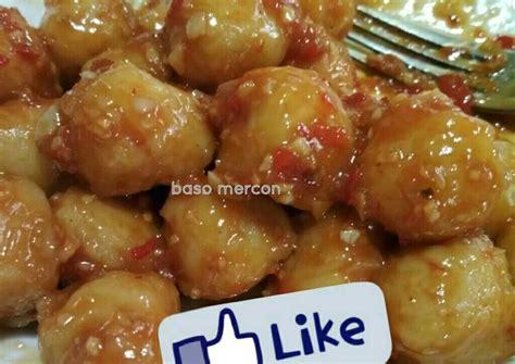 resep bakso ayam mercon masakanmu