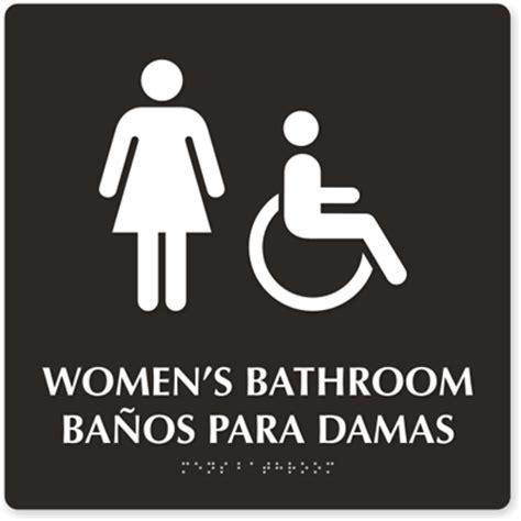 women s bathroom logo bilingual bathroom signs spanish bathroom signs