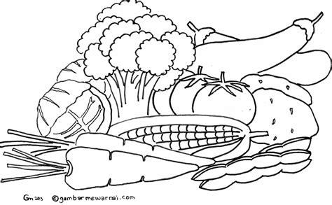 gambar untuk mewarnai gambar sketsa jagung hitam putih untuk mewarnai sketch