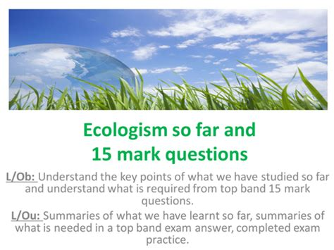 edexcel a2 political ideologies 1444180894 edexcel a2 politics ideologies route b ecologism full set of lessons for this unit by