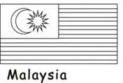 flag of malaysia coloring page free printable coloring pages