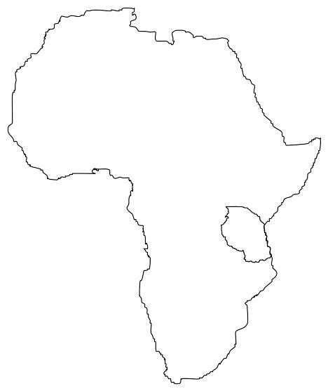 draw an africa map africa map outline blank image search results