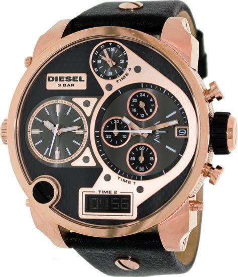 Diesel 4 Time List Black diesel dz7261 mr 4 time zone gold tonel men s guide buy top 100 watches