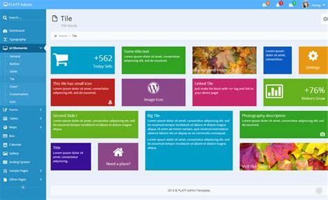 bootstrap themes tiles flaty responsive admin template by thethemeio themeforest