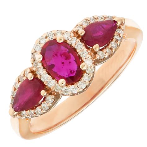 Ruby 13 5ct ruby and ring in 14kt gold 1 5ct tw