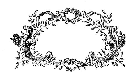 filigree pattern frame psp on pinterest black cats clip art and silhouette