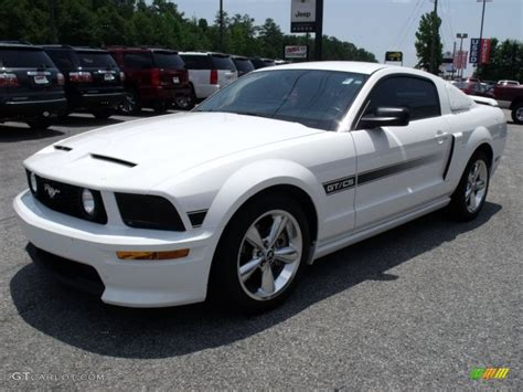 2007 mustang gt performance specs performance white 2007 ford mustang gt cs california